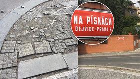 Neukáznění řidiči na Hanspaulce ničí chodníky. Stojí nás to stamiliony, lamentuje radnice
