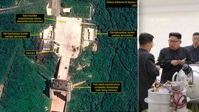 Dodrží Kim slovo? KLDR bourá budovy v areálu, kde testovali rakety, ukázaly snímky satelitu