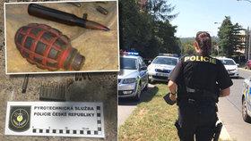 Nebezpečný nález v Praze 4: Dělníci vykopali granát i munici, Havlovického ulice byla uzavřená
