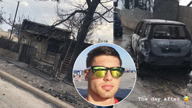 Úspěšný model Čech unikl ničivému požár v Řecku: Jeho dům lehl popelem, 79 lidí zahynulo