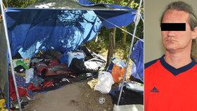 Otřesná vražda mezi bezdomovci: Kamaráda rozsekal mačetou, soud mu napařil 17 let