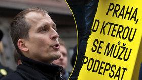 Kandidát na primátora Prahy Čižinský má dost podpisů. Oslavy odkládá, straší ho chyby
