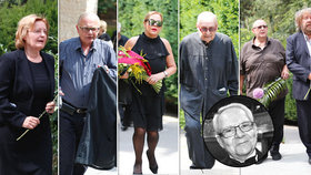 Pohřeb režiséra Petra Weigla: S pláčem se loučila Havlová, Zindulka i Vášáryová!