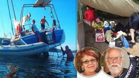 Čeští senioři ze ztroskotané lodi popsali hrůzu na Elbě: Přes palubu se valily 3metrové vlny