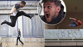 Létá mezi paneláky jako akční hrdina: Parkourista Tary (25) prozradil, kde v Praze trénovat