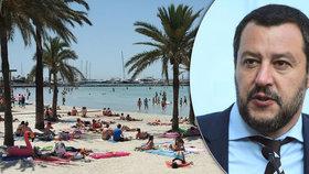 """Nesmíš na dovolenou na Mallorcu, vzkázali protimigračnímu ministrovi: """"Kašlu na to"""""""