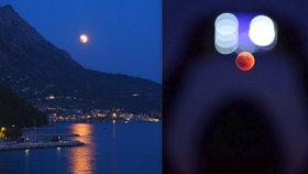 Fascinující rudá luna: Češi lovili Měsíc na horách, u moře, na zahrádkách i koupališti