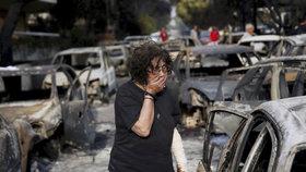 Požáry v Řecku mají už 94 obětí. Další lidé jsou ve vážném stavu v nemocnicích