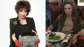 Štabajzna Joan Collins k nepoznání: Babička v domově důchodců!