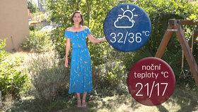 Počasí s Honsovou: Víkend přinese až 36 °C, bouřky a přeháňky budou ojedinělé