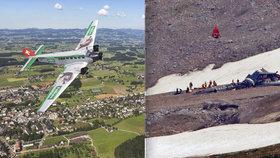 Tragédie vyhlídkového letu v Alpách. Všech 20 lidí zemřelo při pádu historického stroje