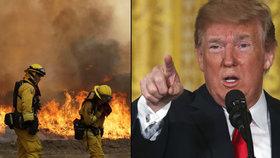 Kalifornie dál zápasí s ničivými požáry. Trump schválil peníze z federální kasy
