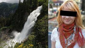 Iva (†24) zemřela v Rakousku po pádu do vodopádu. Chtěla do světa za málo peněz