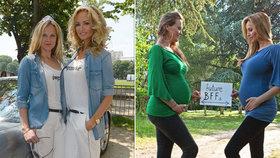 Sklenaříková (46) se sestrou (40): Přeměřovaly si těhotenská bříška!
