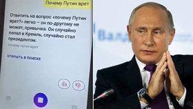 """""""Ruská Siri"""" začala peprně komentovat Putina. Kreml z virtuální asistentky zuří"""