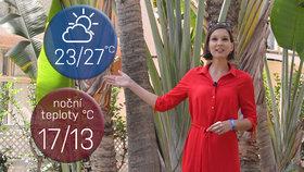 Počasí s Honsovou: V pátek pozor na silné bouřky, víkend přinese úlevu od vedra