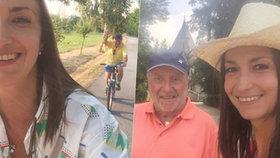 Slováček (75) vedle milenky omládl: Módní vous a výšlapy na kole i ve vedru!