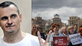 Ukrajinský režisér drží ve vězení už 90 dní hladovku. Rusové o jeho stavu mlží