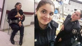 Policistka hrdinka: V nemocnici se nechtěli postarat o podvyživené dítě, tak ho sama nakojila
