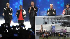 Na koncertě Backstreet Boys se zřítila kovová konstrukce: 14 zraněných z řad fanoušků