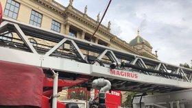 Hasiči v budově Národního muzea: Hořela tu elektroinstalace ventilátoru
