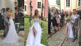 Exmilenec Prachařové Charouz se oženil! Nevěsta měla rozparek, který odhaloval vše
