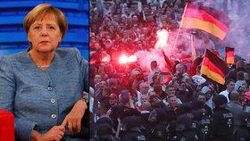 Merkelová odsoudila štvanici na migranty u českých hranic. Co řekla vraždě Němce?