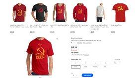 Řetězec čelí bouři kvůli oblečení se znakem SSSR. Nabízí trika, tílka a mikiny