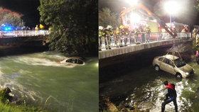 Češi v Rakousku sjeli s autem do řeky! Voda je unášela půl kilometru