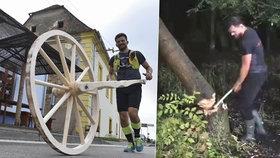 Neuvěřitelná anabáze herce Dušana Vitázka (37): Porazil strom, udělal kolo a kutálel ho z Lednice do Brna!