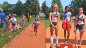 Dívka (13) vyhrála běžecký závod pouze v balerínách. Ostatní holčičky předběhla i o kolo