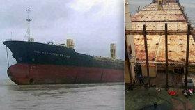 U pobřeží se objevila záhadná »loď duchů«! Na palubě nebyla posádka ani náklad