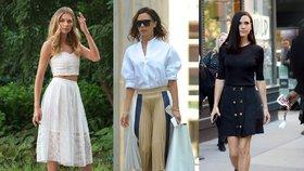 Pouzdrová, áčková, mini nebo maxi. Jaká sukně bude sedět vám?