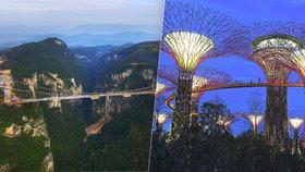 Dokonalý výhled: Projděte se po nejšílenějších mostech na světě