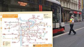 Cestující, pozor! V úseku Újezd - Národní třída - Lazarská »TÝDEN« nepojedou žádné tramvaje. DPP zruší linku 9 a 23