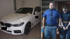 Ukradeným BMW najížděl Litevec na policistu: Spletl jsem si pedály, tvrdí