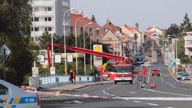 Poprask v Kladně: Anonym nahlásil bombu pod dvěma mosty, místa prozkoumali psovodi i pyrotechnik