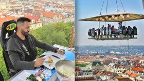 """""""Dietář"""" Václav Noid Bárta: Oběd v oblacích 45 metrů nad zemí!"""