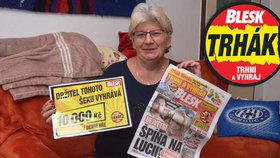 Anna Steigerová (62) z Olomouce si objednala předplatné Blesku a vyhrála: 10 tisíc? Budou nové zuby!