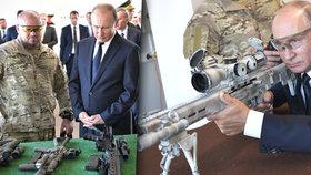 Ostrostřelec Putin testoval nový kalašnikov. Střílelo mu to na výbornou