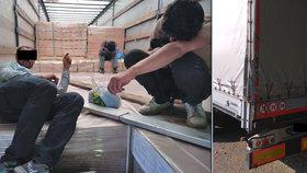 Policisté na jižní Moravě zadrželi 4 migranty. Schovávali se v kamionu
