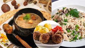 Houby na víkendovém talíři! Česnečka, karbanátky i rizoto
