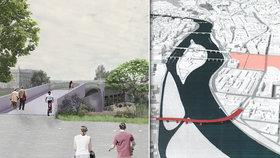 Co bude kolem Rohanského mostu? IPR prozradil, jak si představuje okolí nové stavby přes Vltavu