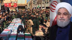 """V Íránu pohřbili oběti útoku a hrozí USA a Izraeli: """"Budete litovat toho, co jste udělali"""""""