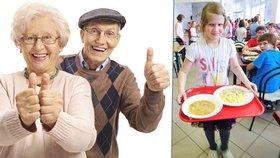 V dotovaných školních jídelnách lacině a rádi jedí i senioři, zlobí se restauratéři