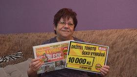 Další výhra v Trháku! Paní Jiřina si odnesla 10 tisíc na novou televizi