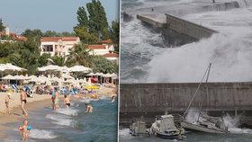 Na Řecko a Turecko se žene bouře o síle hurikánu. Varování dostali i Češi