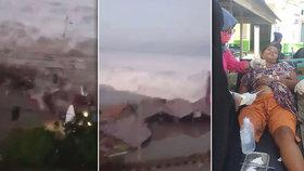 Z moře se přivalila pohroma. Až třímetrová tsunami zasáhla ostrov v Indonésii
