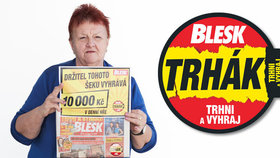 Vítězka 10 000 korun v Trháku Zdena Hubínková (71): Výhra pomůže s opravou bytu!