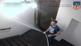 Zfetovaný cizinec v Karlových Varech poničil hotel: Hrál si na hasiče a vytopil halu